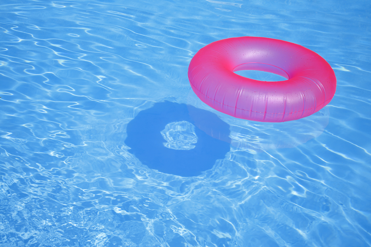 Pink Inflatable Ring